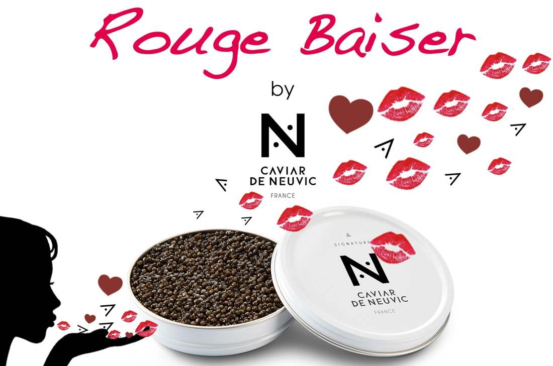 rouge baiser caviar de Neuvic
