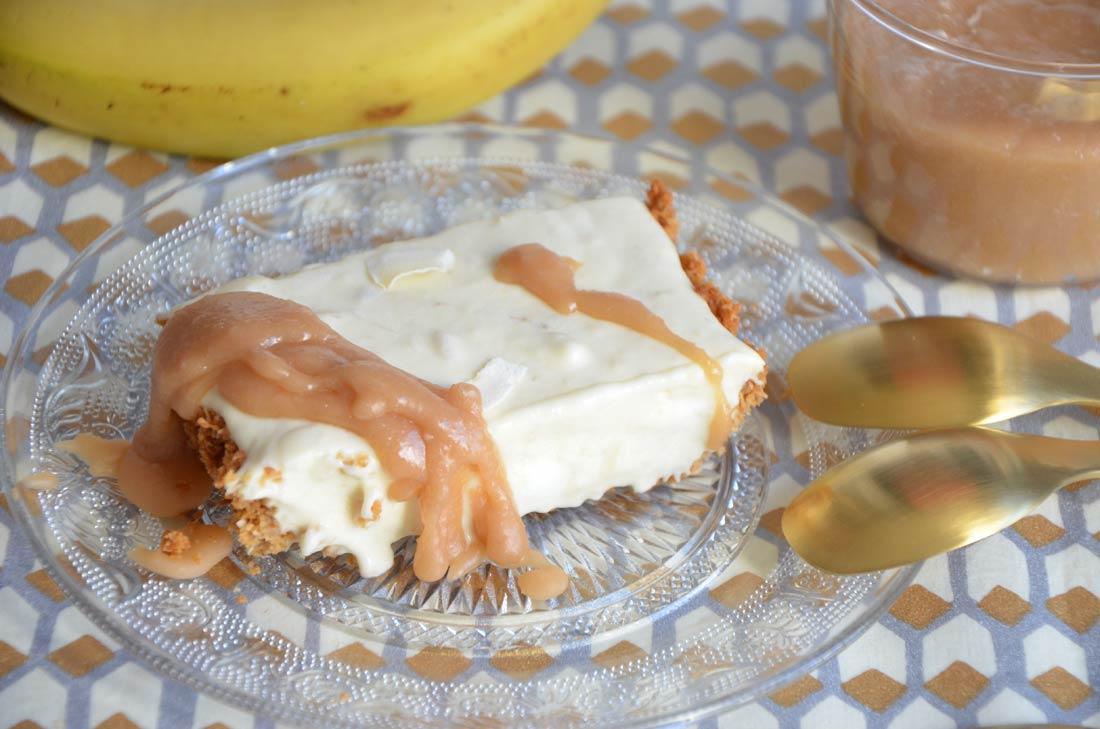 Tarte banane et caramel au lait de coco