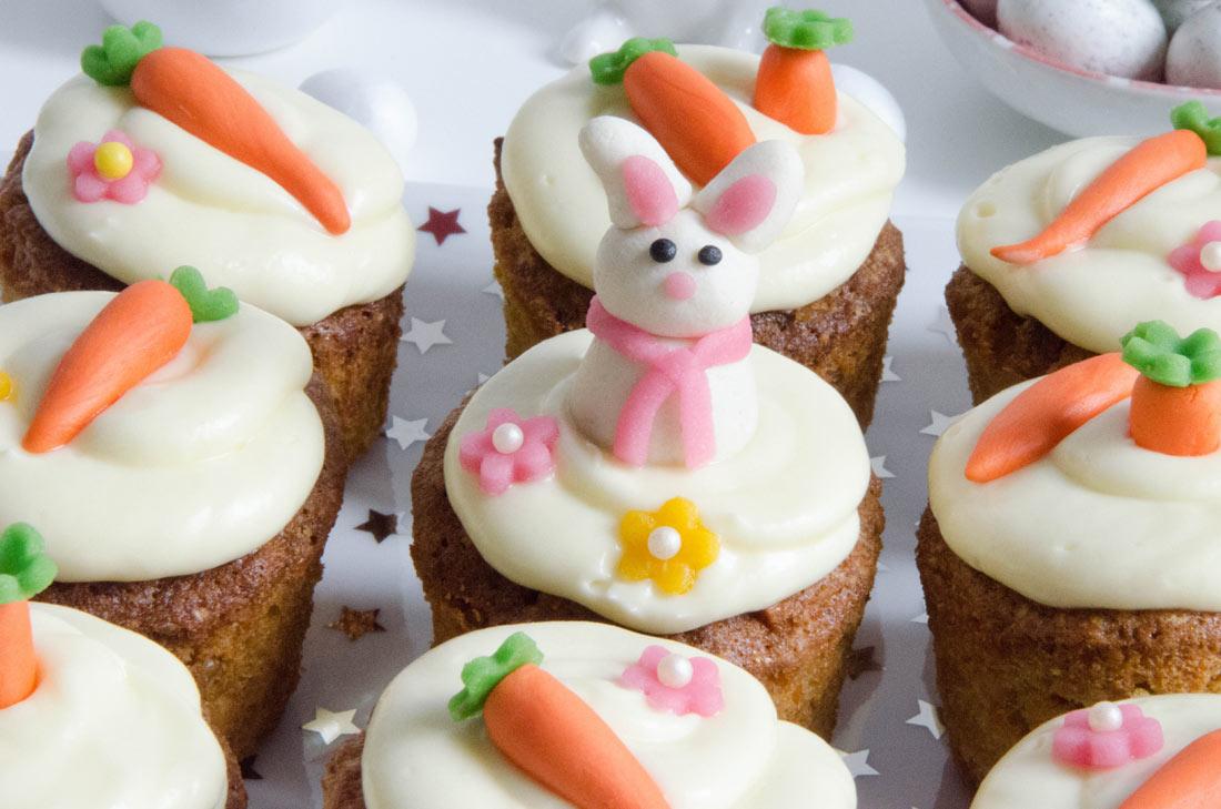 Recette de carrot cupcakes de Pâques