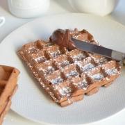 Gaufres de Bruxelles au cacao
