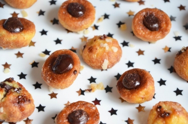 Mini choux chocolat chaud de Christophe Michalak
