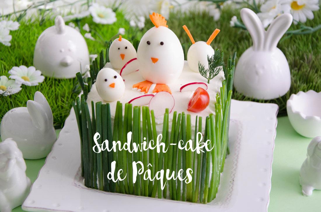 sandwich-cake de Pâques au saumon