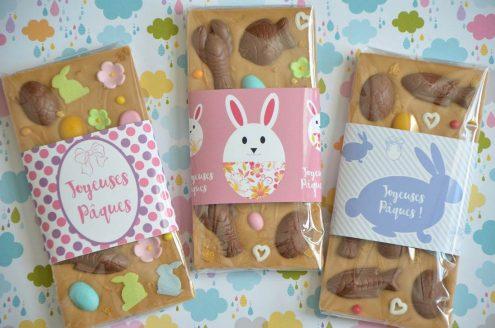 tablettes de chocolat Dulcey pour Pâques