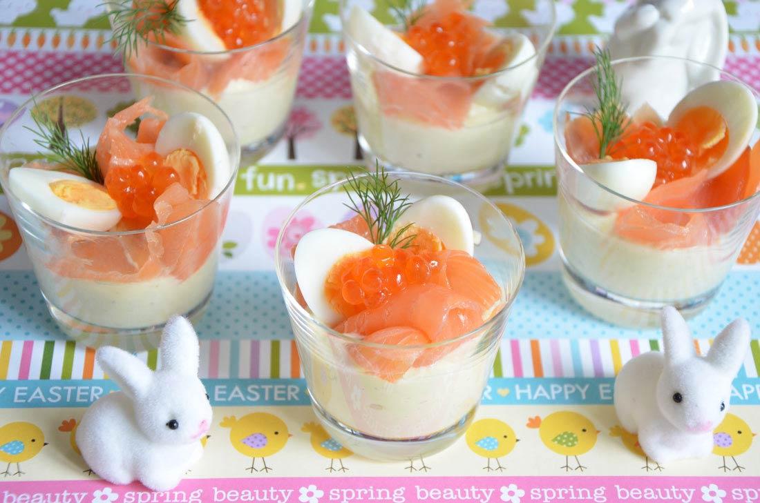 recettes verrines oeuf de caille