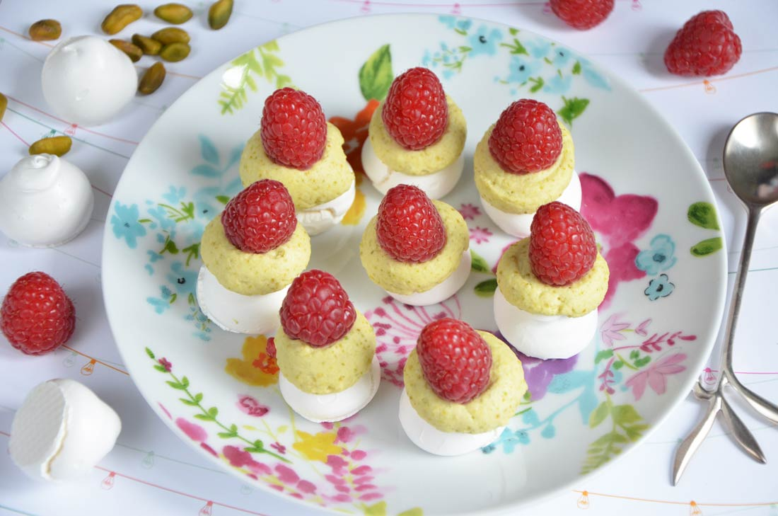 Mini meringues à la framboise très girly