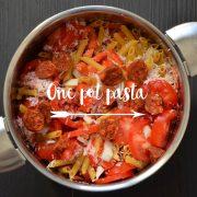 One pot pasta penne chorizo poivrons