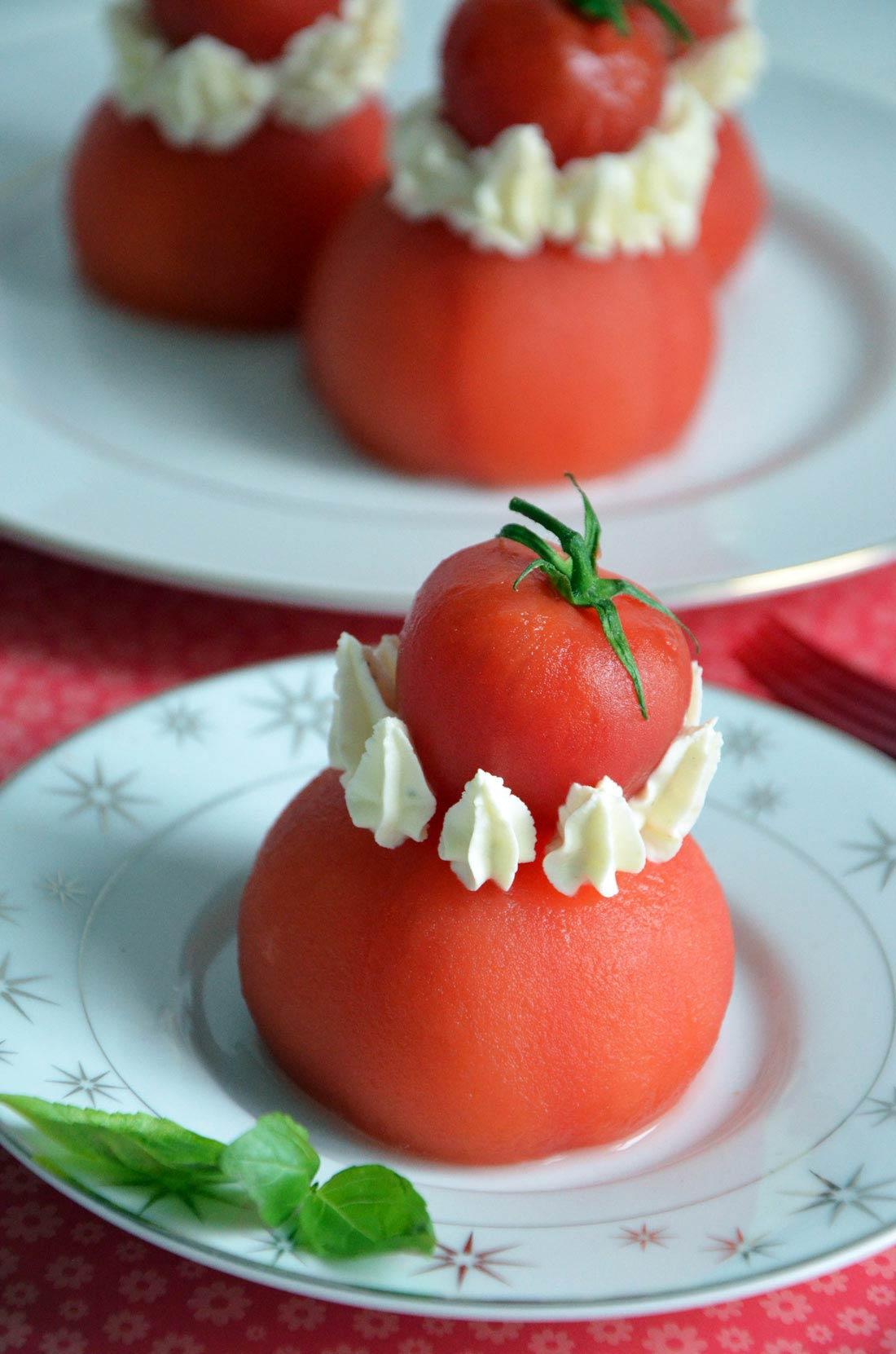 Religieuse tomate burrata