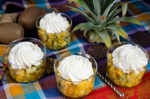 salade de fruits exotiques gelée passion