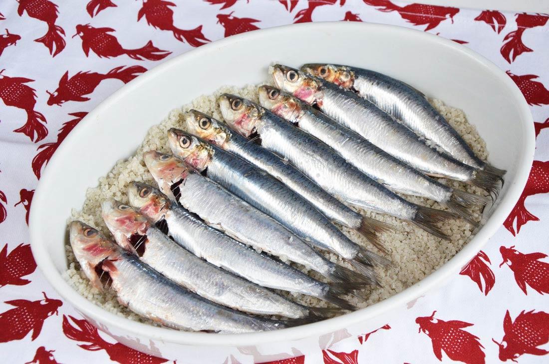 sardines en croûte de sel aux herbes