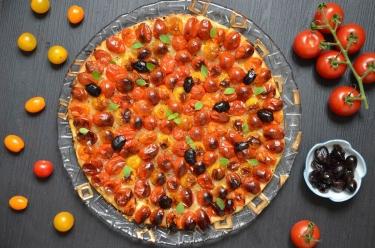 pizza aux tomates cerise