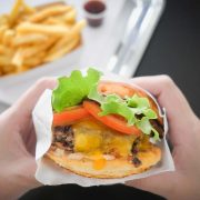 B&M burger sandwich