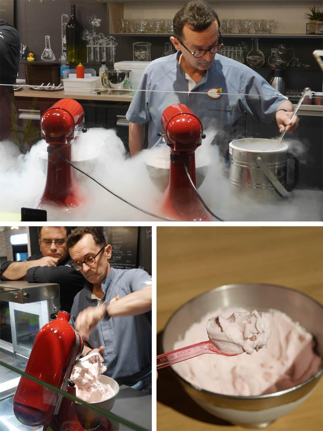 Fabrication de glace au Futuroscope