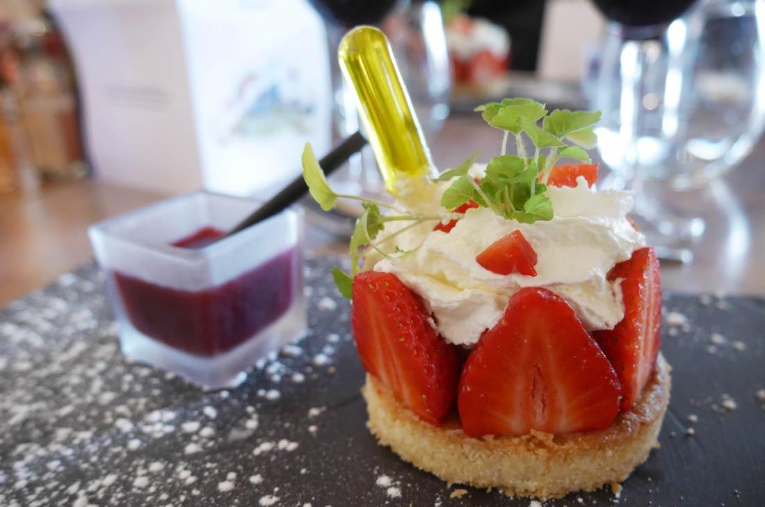 Dessert du restaurant Saveurs du soleil, offre culinaire du Futuroscope