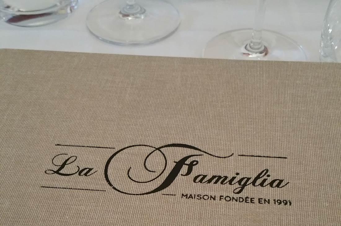 restaurant La Famiglia à Paris