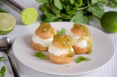 mini choux mojito rhum citron vert