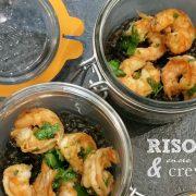 risotto encre de seiche et crevettes