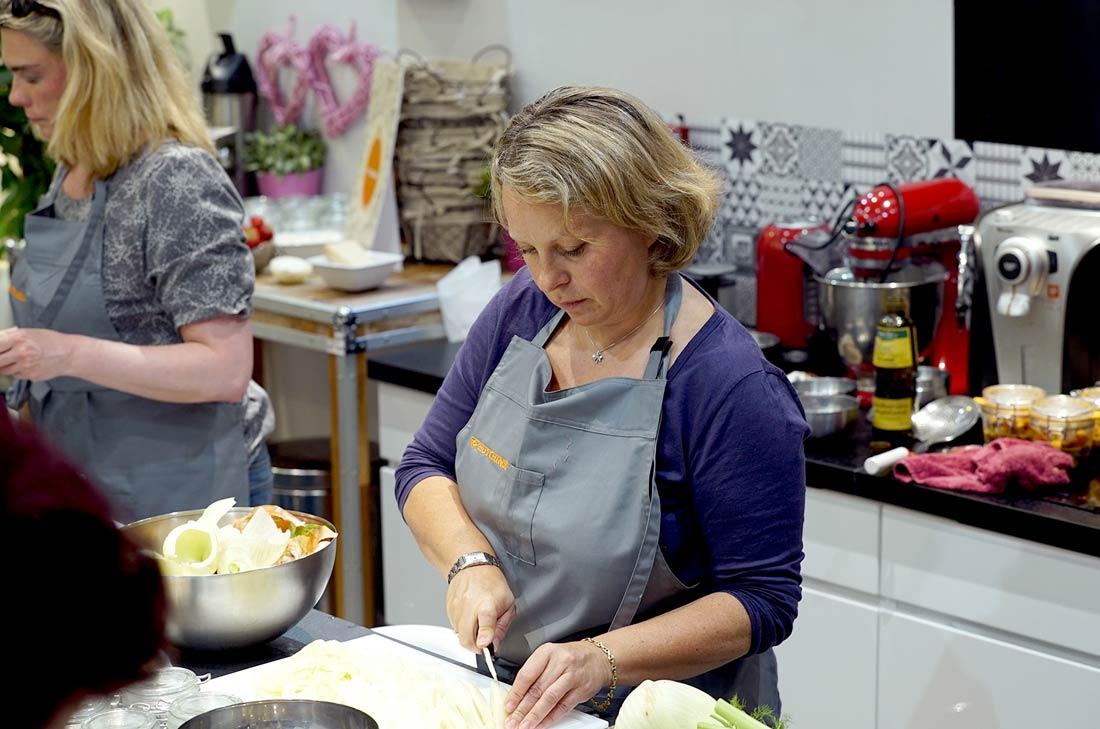 risotto encre de seiche et crevettes réalisée lors de la soirée Hutchinson