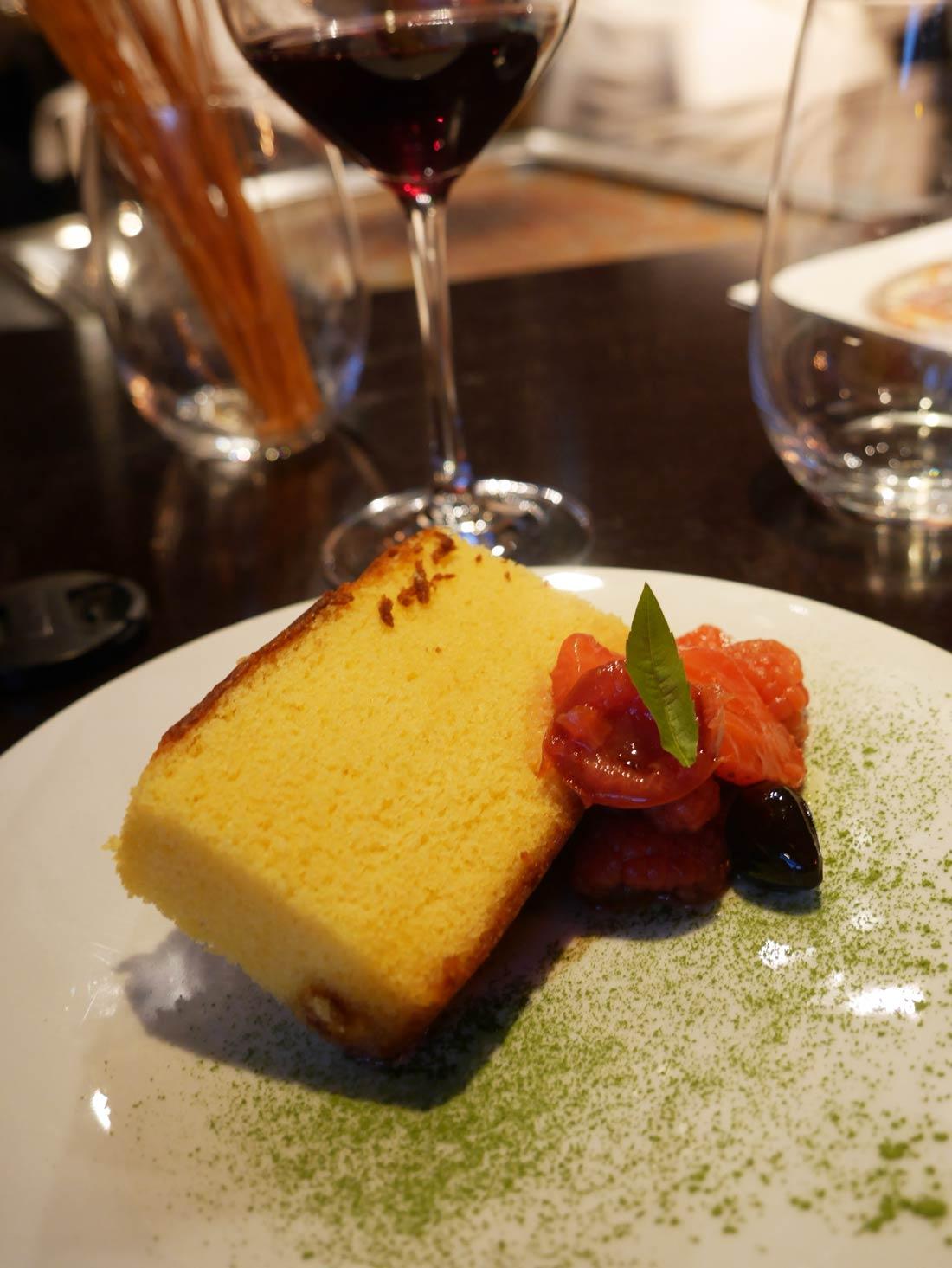 castella aux fruits rouges