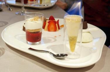 dessert du restaurant Le Cristal au Futuroscope