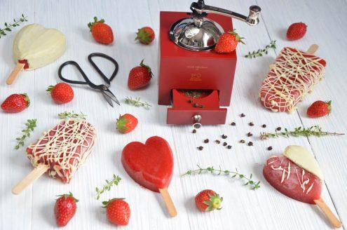 esquimaux fraises poivre chocolat blanc
