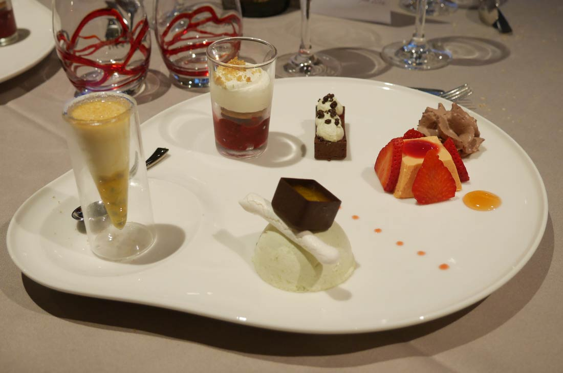 Les desserts de la cuisine du Cristal au Futuroscope