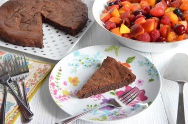 gateau au chocolat sans gluten ni produit laitier