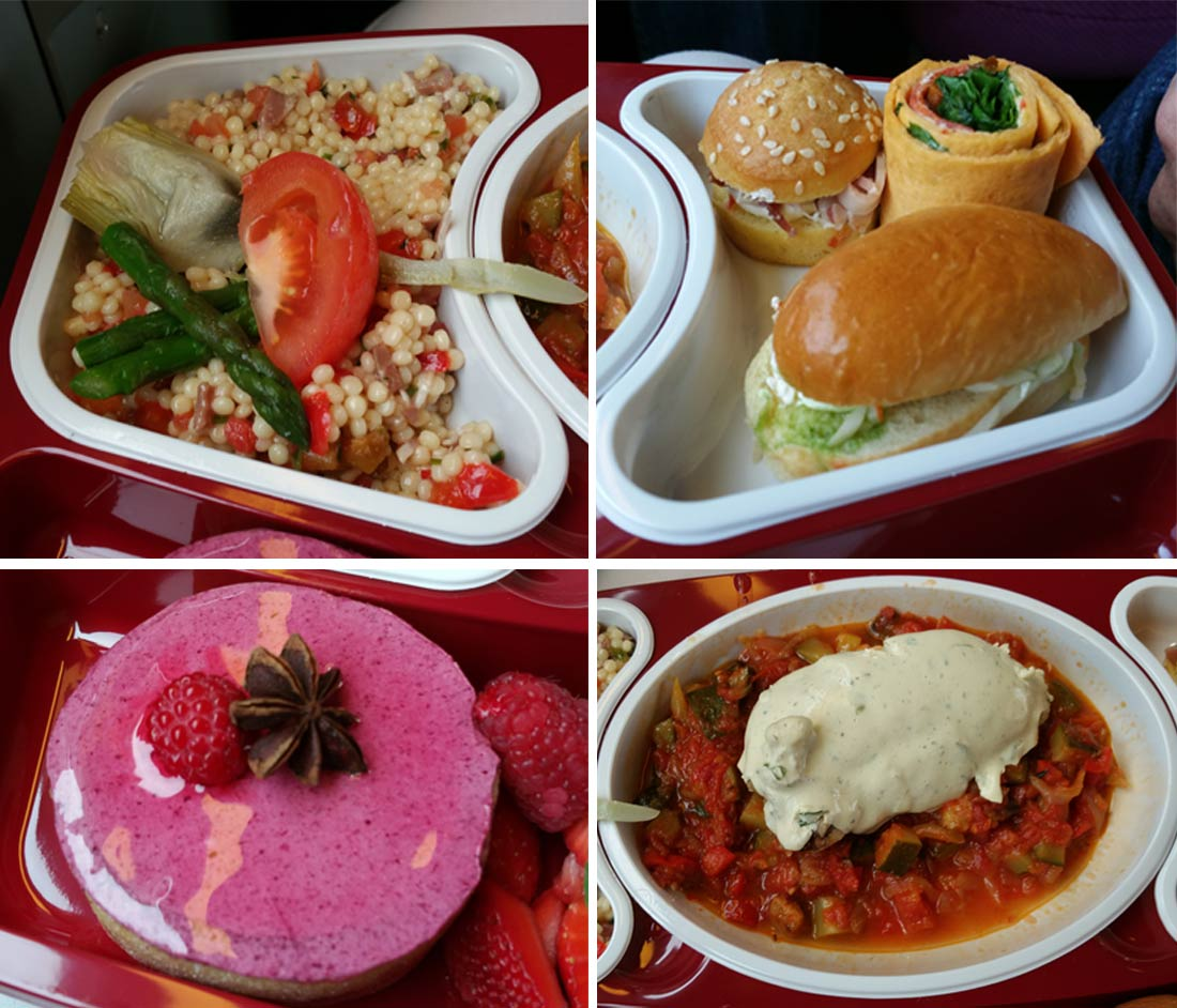 offre culinaire du Futuroscope : le plateau repas de la Table d'Arthur