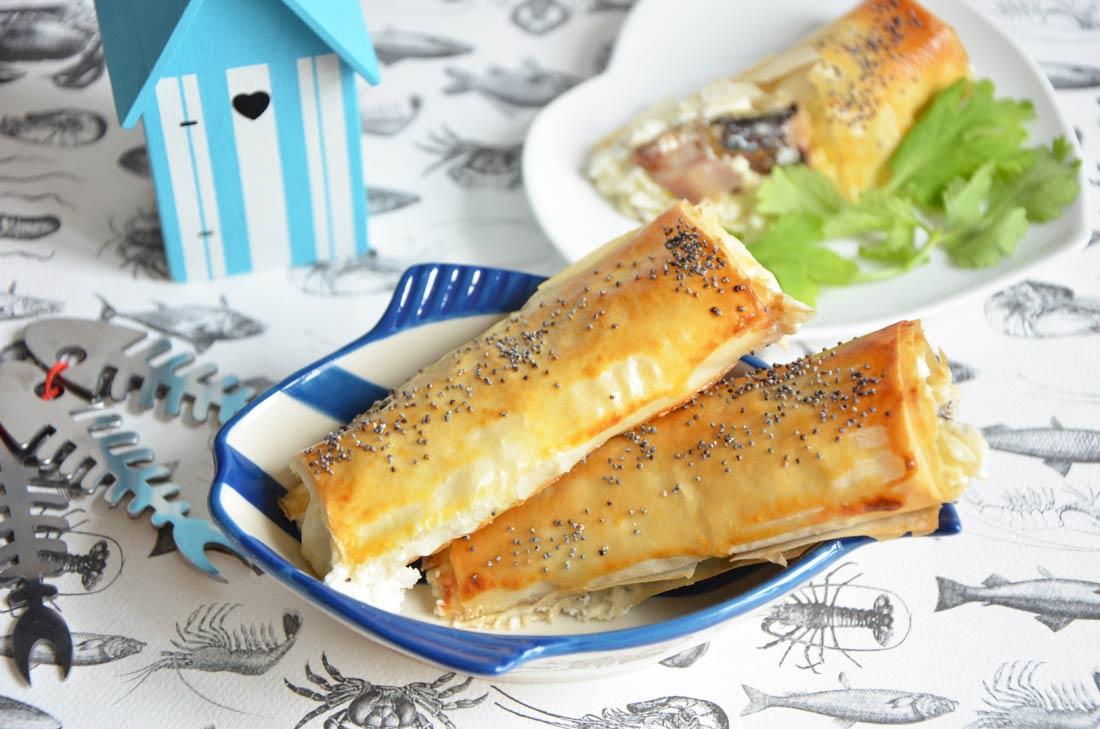 Cigares au fromage frais et sardines pimentées