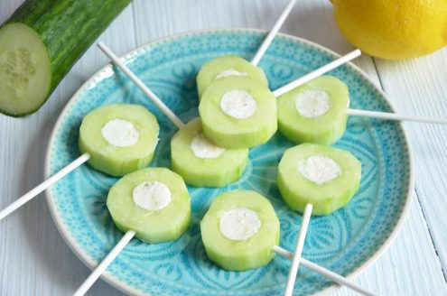 Sucettes concombre feta