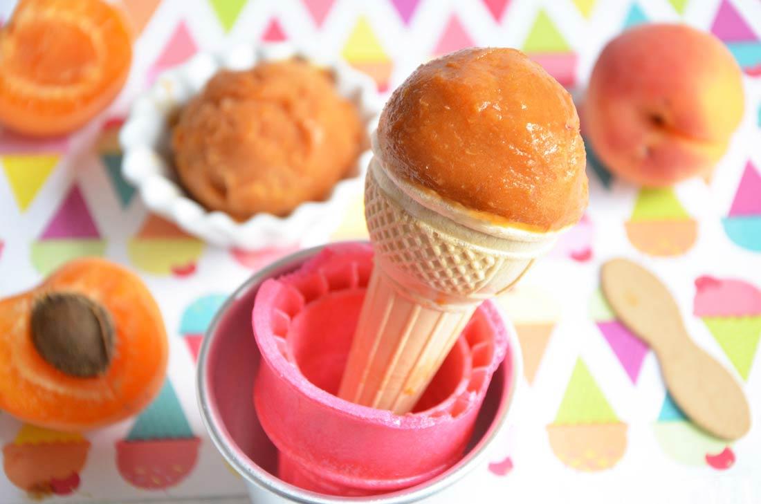 Sorbet à l'abricot, un dessert d'été fait maison