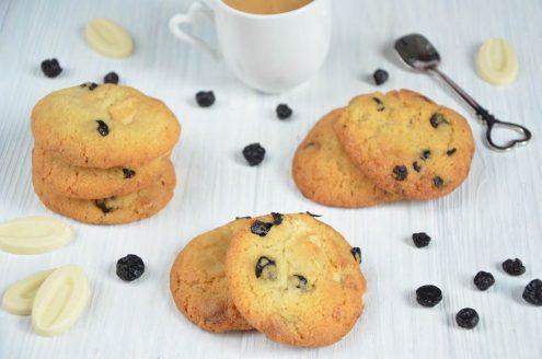 cookies chocolat blanc myrtilles