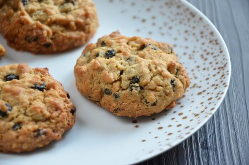cookies flocons avoine myrtilles