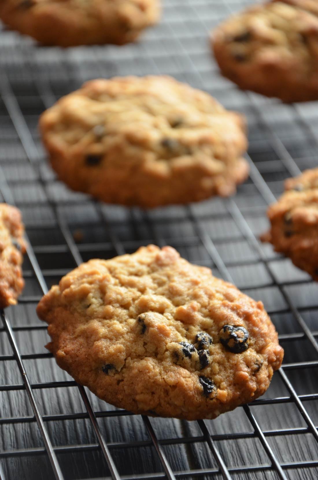 Cookies avoine myrtilles