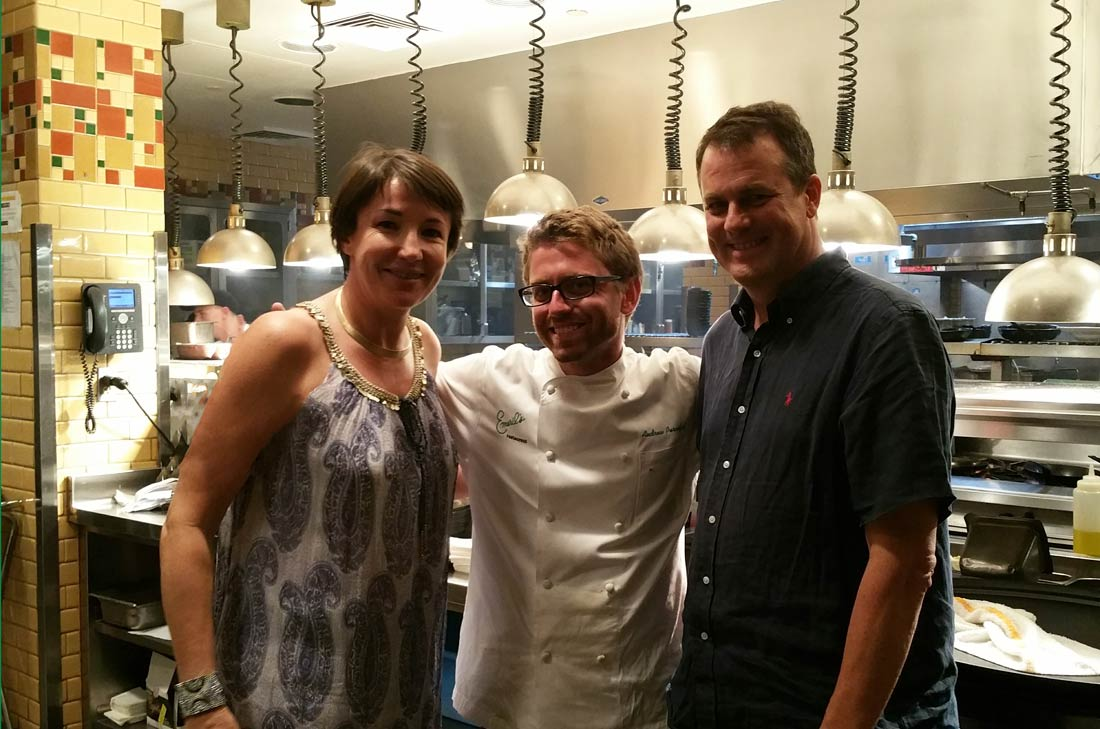 Emeril et son sous-chef Andrew Perciful