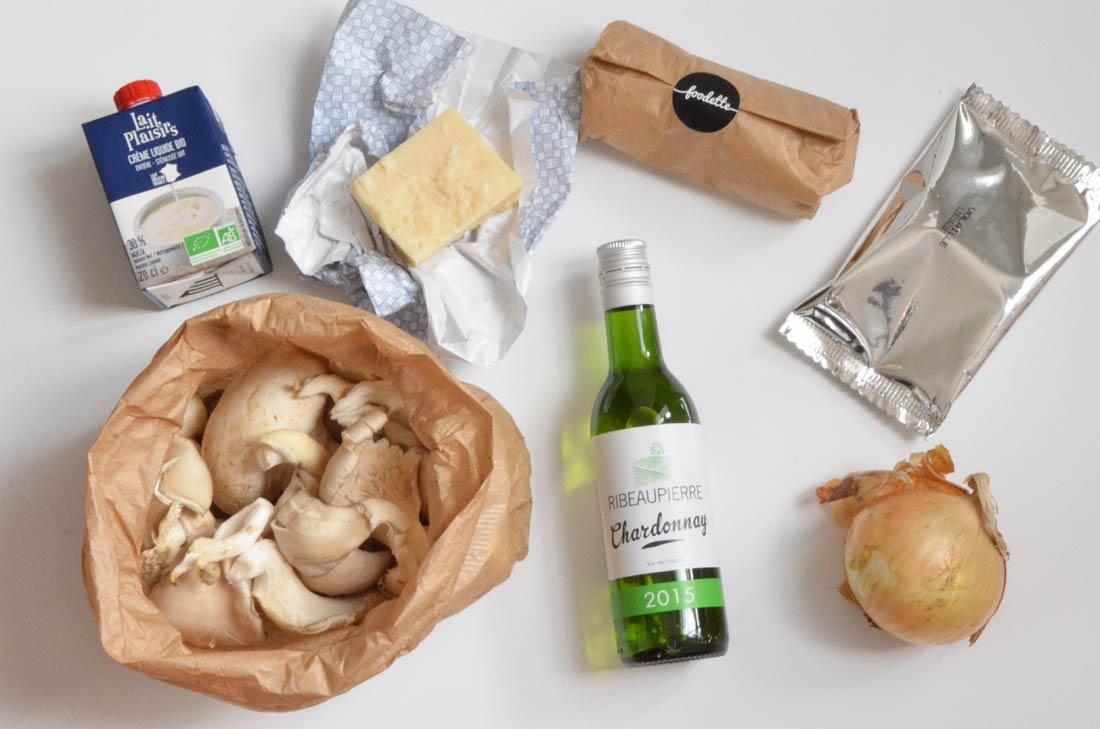 ingrédients risotto aux deux champignons
