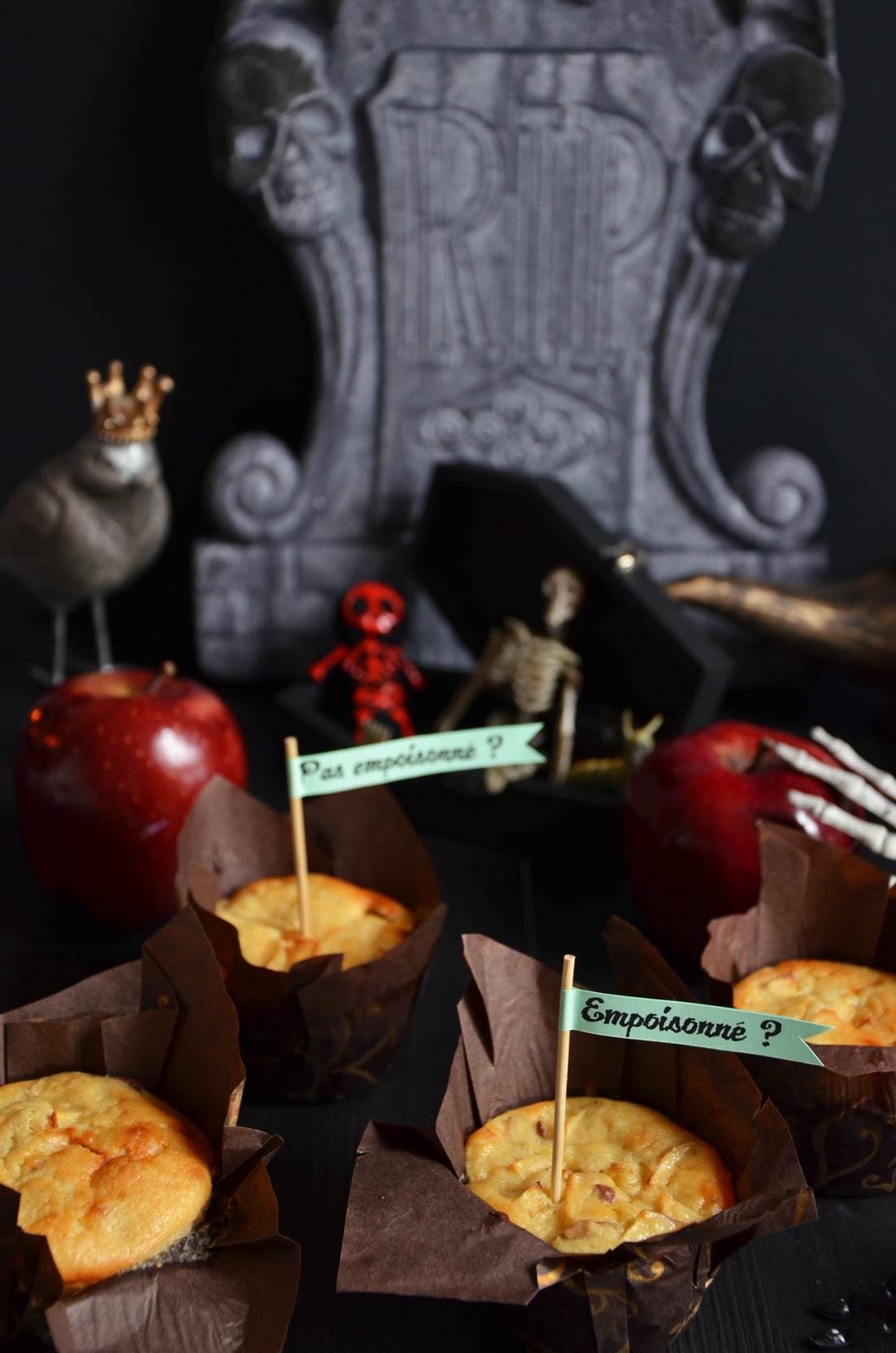Muffins cheddar pomme rouge érable