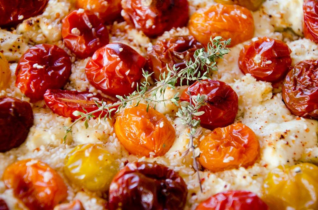 Tarte chèvre tomates cerise