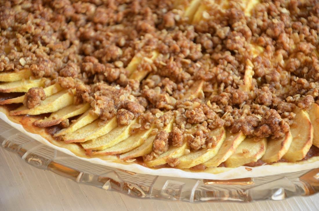tarte pommes châtaignes crumble
