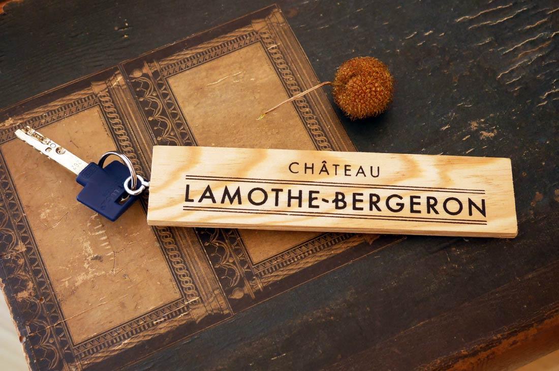 clé chambre château Lamothe Bergeron