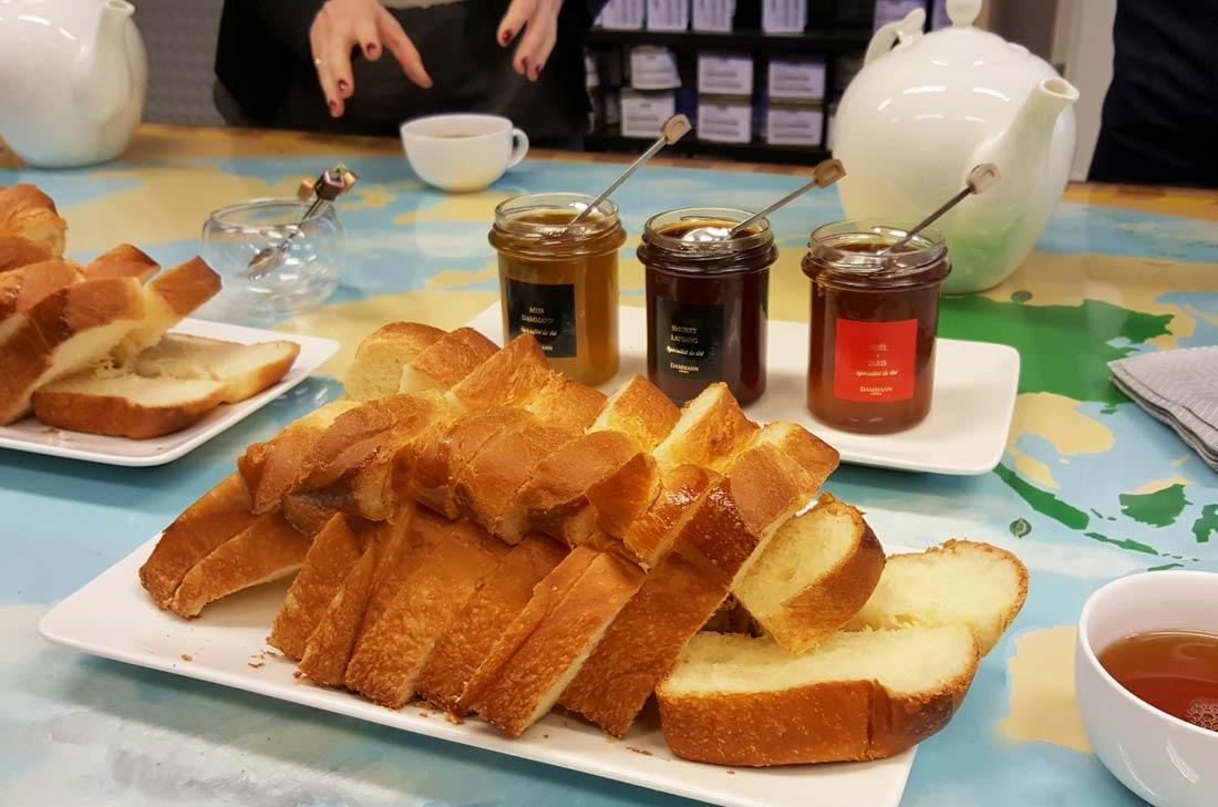 petit-déjeuner thés Dammann Frères