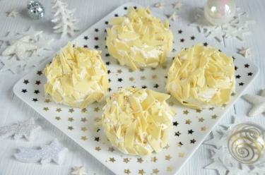 Merveilleux à la vanille et au chocolat blanc