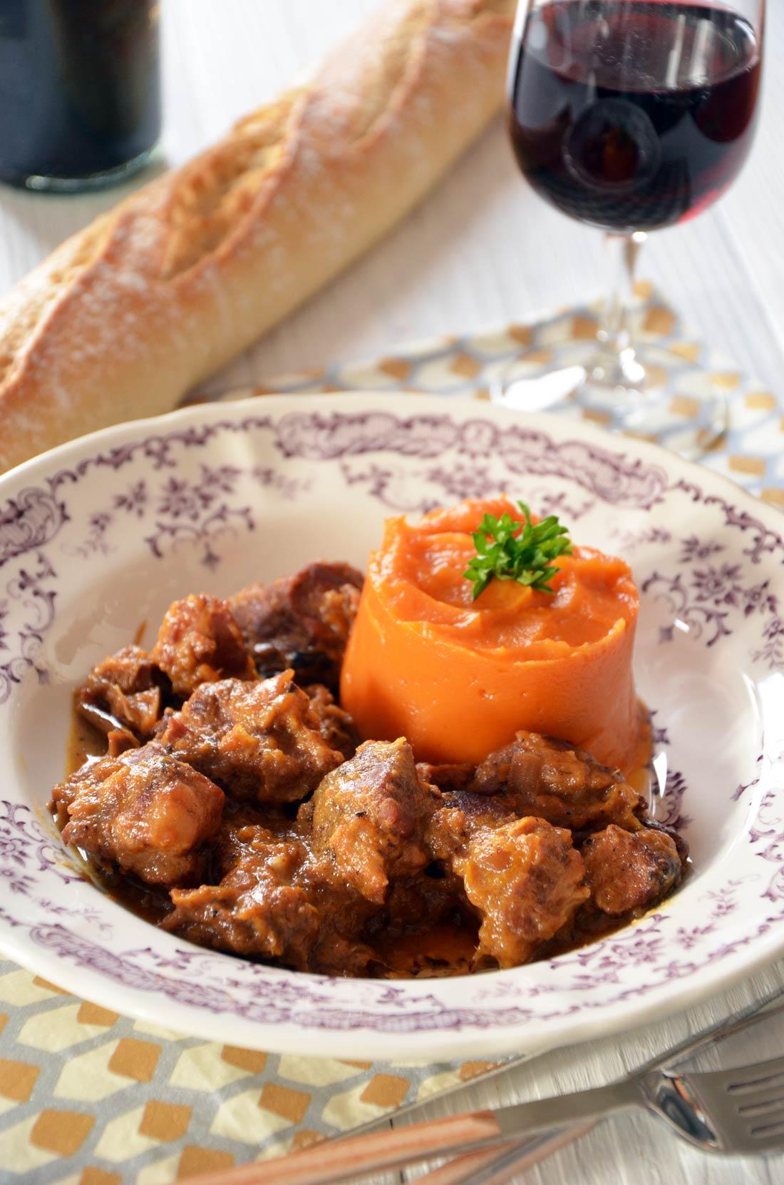 Palette de porc à la mangue patate douce
