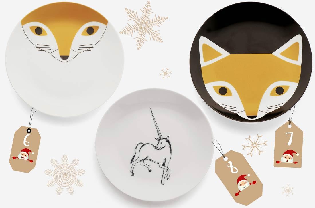 assiettes Monoprix pour Noël 2016