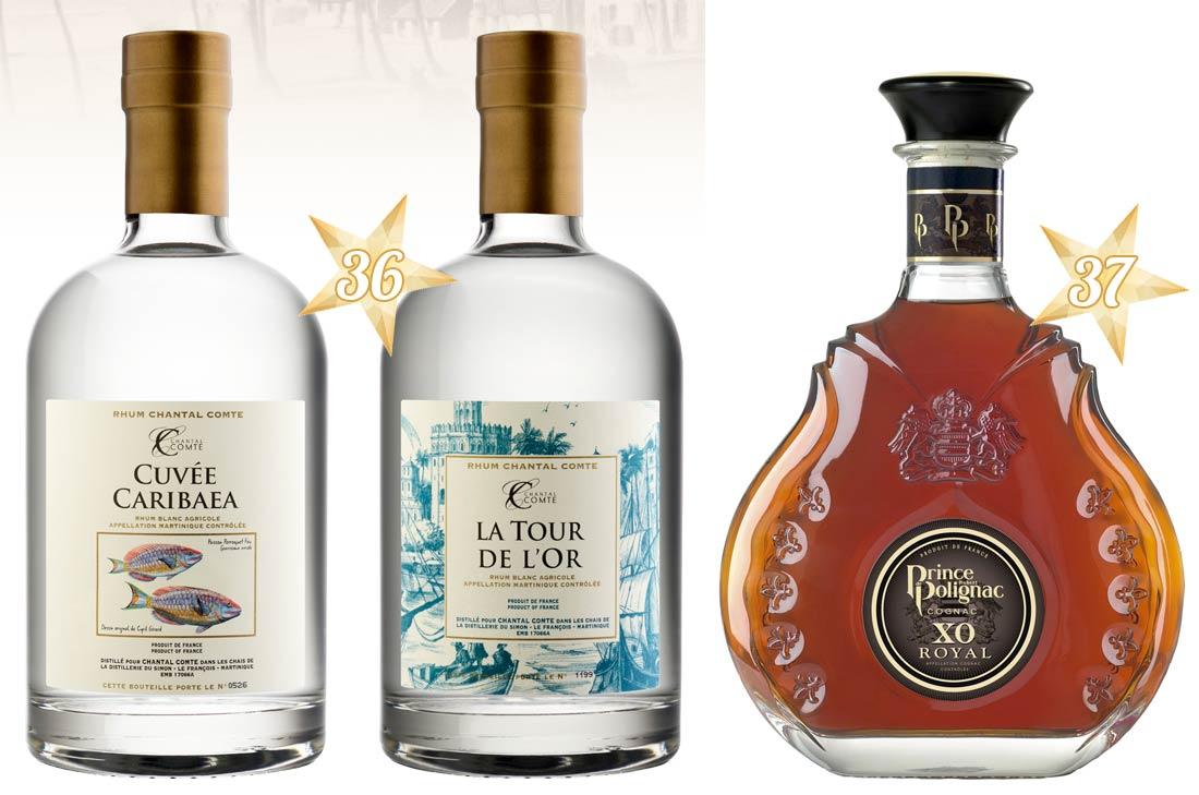Rhums Chantal Comte et cognac Prince de Polignac