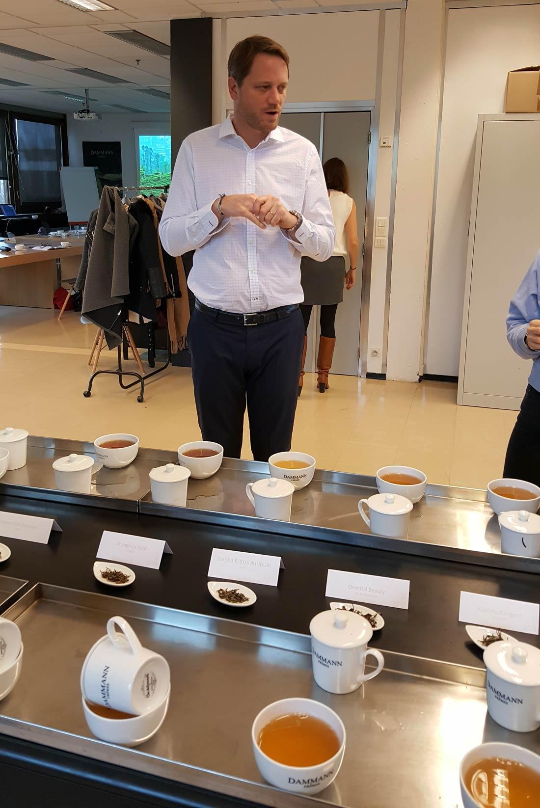 Emmanuel Jumeau-lafond, tea-blender de Dammann Frères