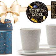 jeu avec un set de bols et le thé Noël en Provence Dammann Frères à gagner