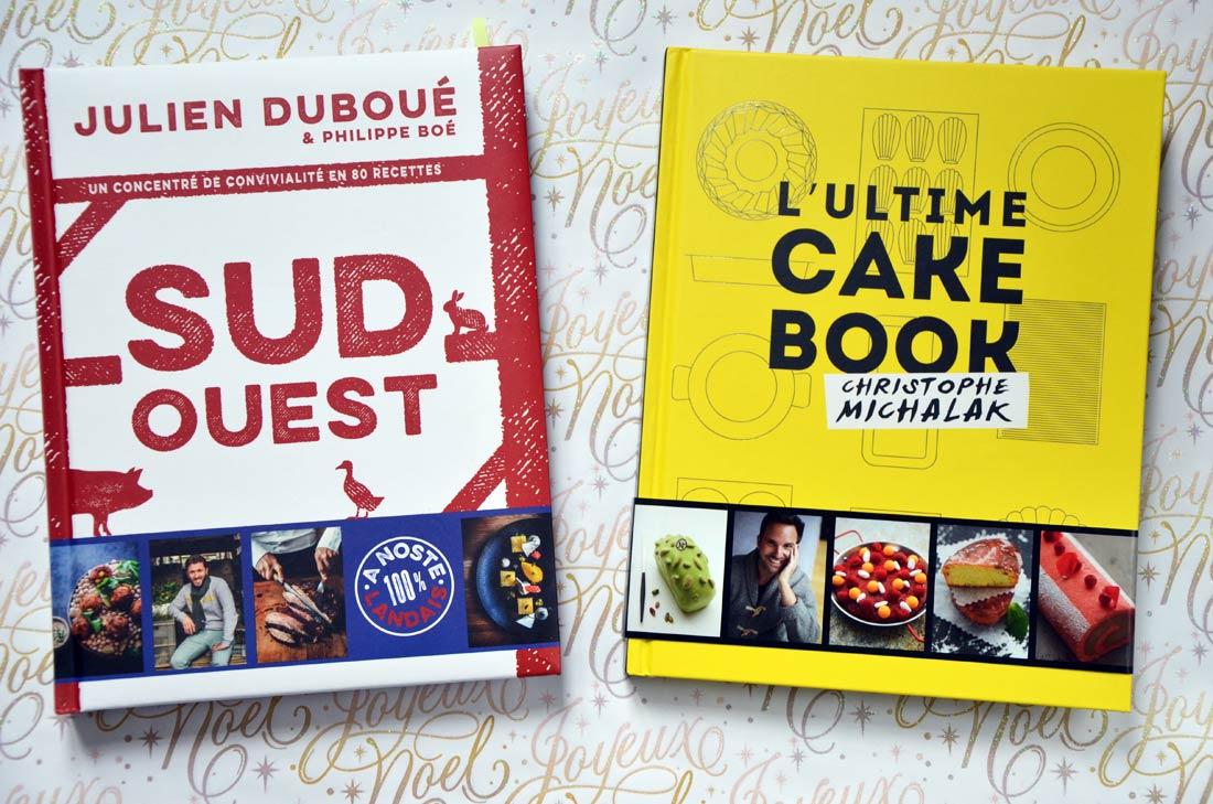 Livre Julien Duboué Sud-Ouest et livre de Christophe Michalak l'ultime cake book