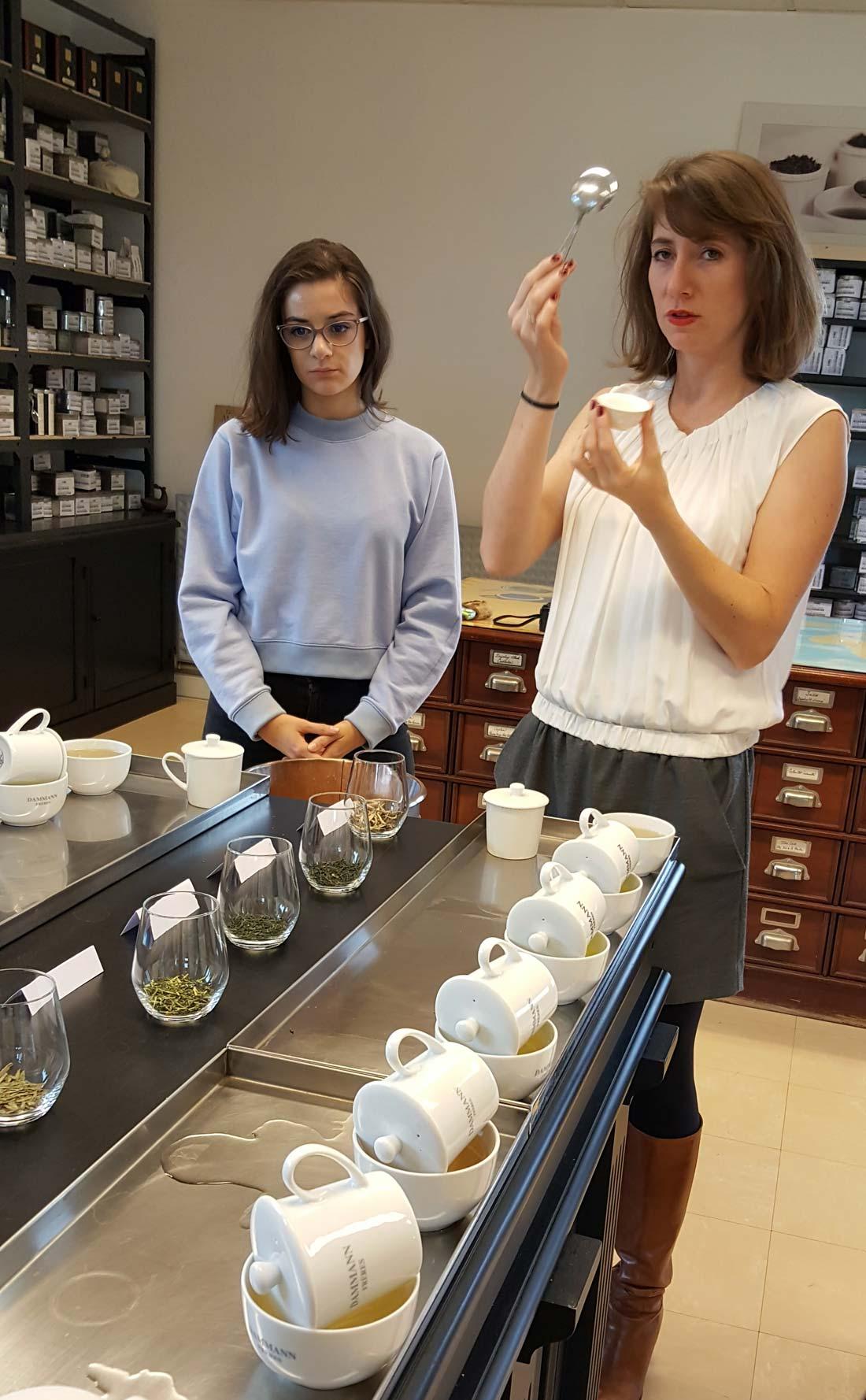 Marine Sonié acheteuse de thés chez Dammann Frères