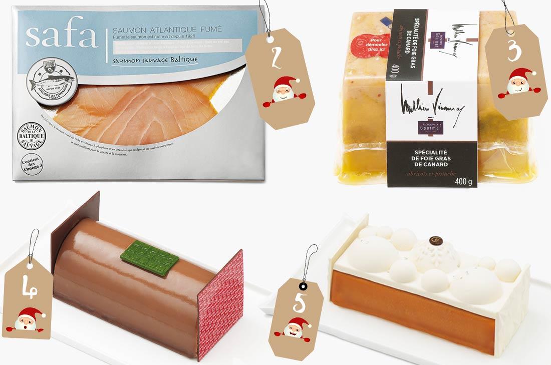 Saumon Safa et Foie gras de Matthieu Viannay Monoprix pour Noël 2016