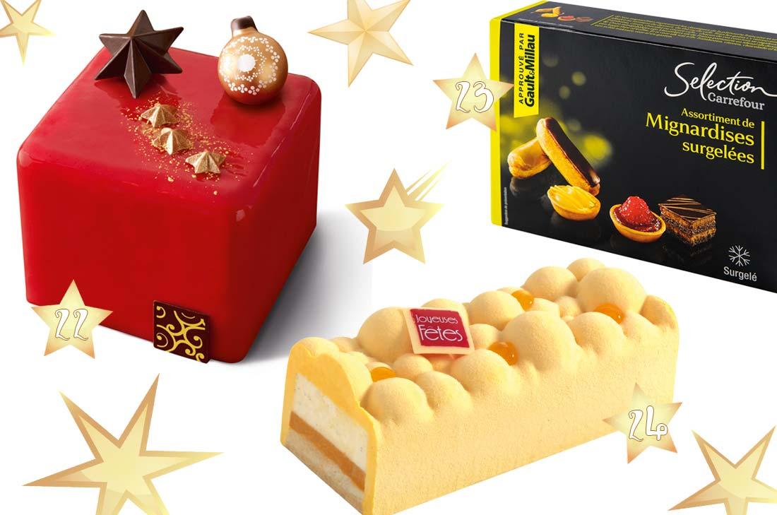 sélection desserts pour Noël 2016 chez Carrefour